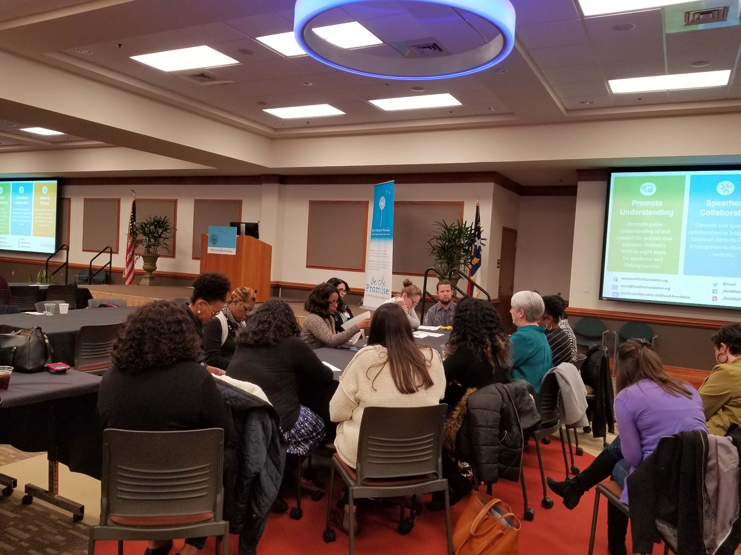 A photograph from a recent action network meeting